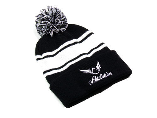 Dominant Black Beanie Hat - Absolution Apparel - 2