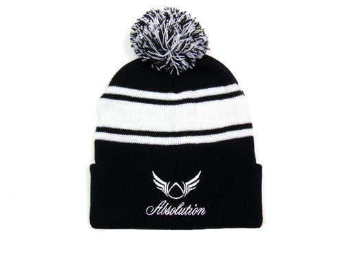 Dominant Black Beanie Hat - Absolution Apparel - 1