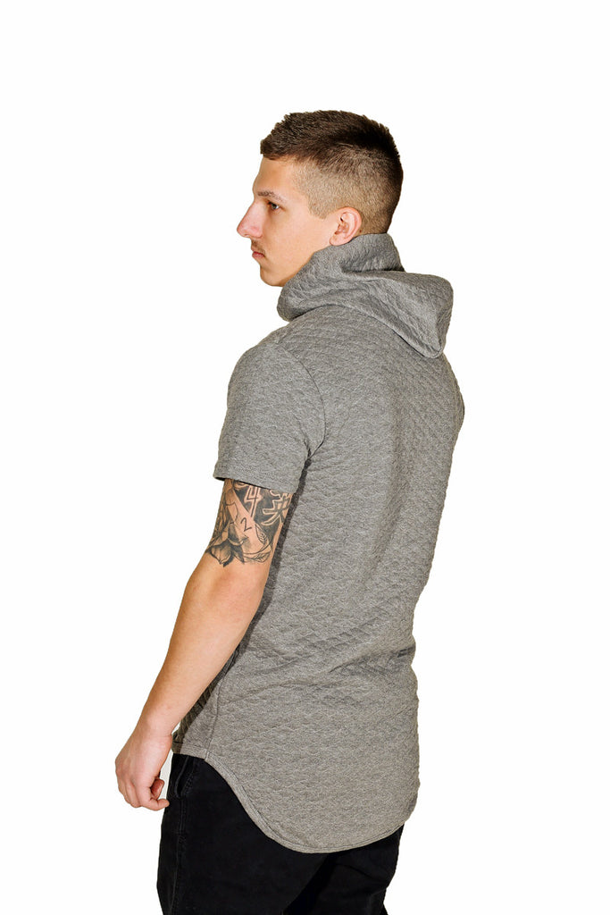 Grey Hoodie Short Sleeve Absolution Apparel Co 2
