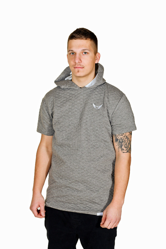 Grey Hoodie Short Sleeve Absolution Apparel Co