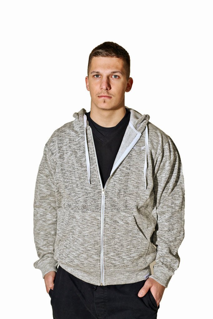 Heathered White Hoodie Absolution Apparel