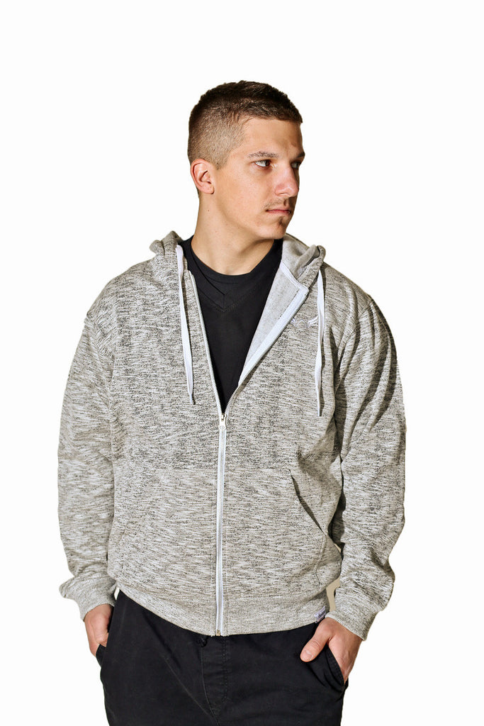 Heathered White Hoodie Absolution Apparel 2