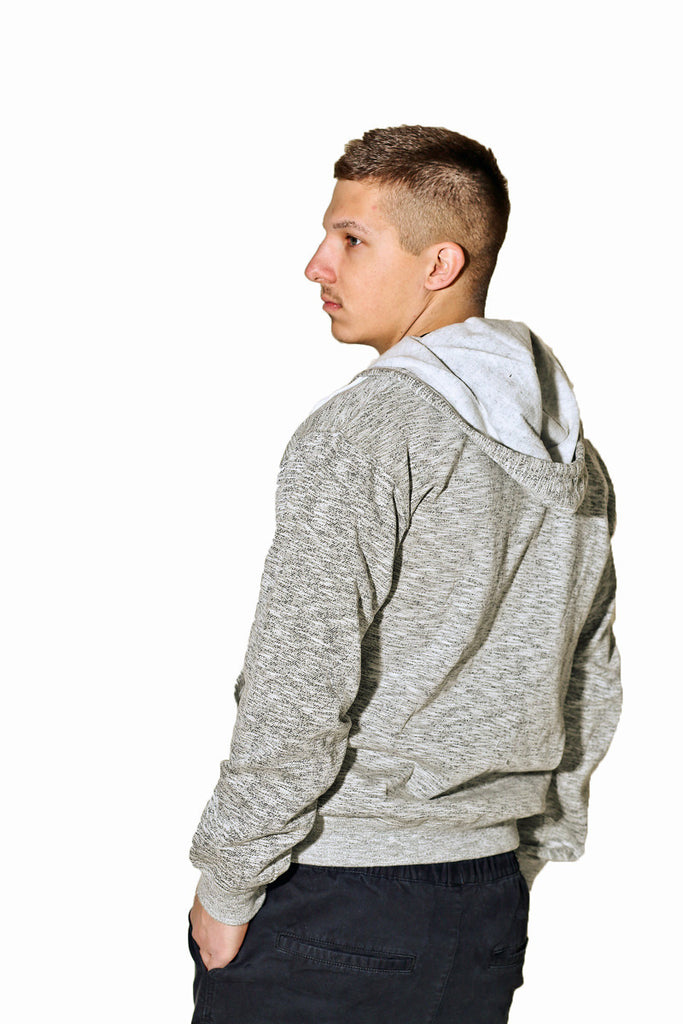 Heathered White Hoodie Absolution Apparel 3