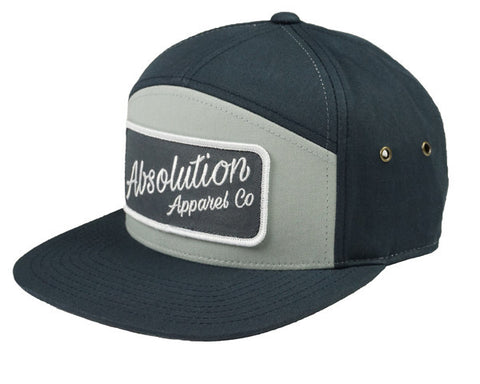 Patched Out Script Tan Strapback