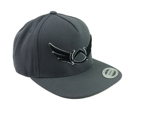 OUTLINE GREY SNAP BACK CAP - Absolution Apparel Co.