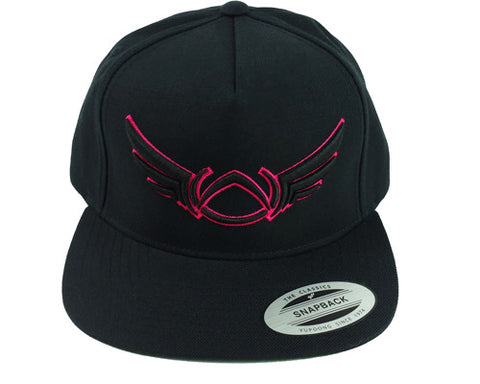 OG LOGO OUTLINE SNAPBACK BLACK/PINK - Absolution Apparel - 1
