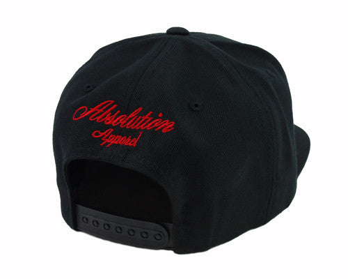 OG LOGO OUTLINE SNAPBACK BLACK/RED - Absolution Apparel Co.