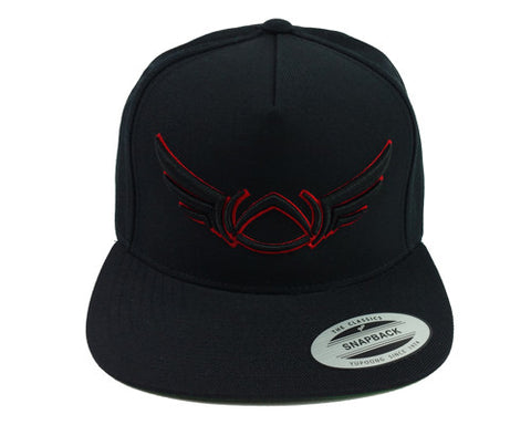 OG LOGO OUTLINE SNAPBACK BLACK/RED - Absolution Apparel - 1