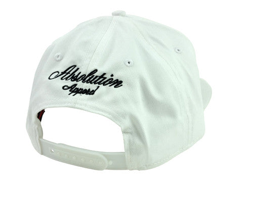 OUTLINE WHITE SNAPBACK CAP - Absolution Apparel - 3