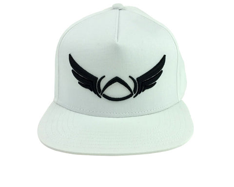 OUTLINE WHITE SNAP-BACK CAP - Absolution Apparel - 1