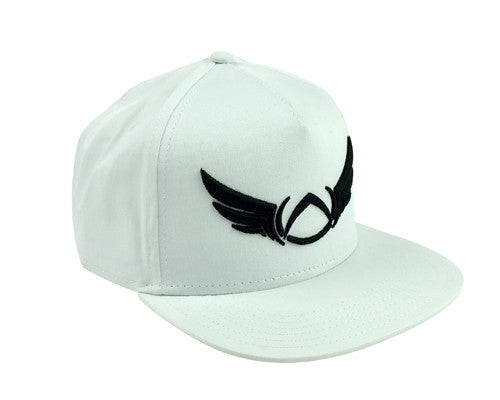 OUTLINE WHITE SNAPBACK CAP - Absolution Apparel - 1