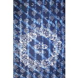 "Celestial Batik Tapestry Cotton Spread 106"" x 72"" Twin Blue"