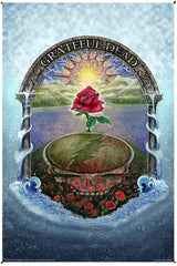 Grateful Dead Rose Garden Heady Art Print Tapestry 53x85