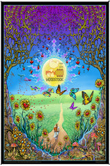 Woodstock Back To The Garden Heady Art Print Tapestry 53x85 with FREE 3-D Glasses