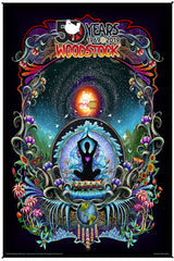 Woodstock We Are Stardust 50th Anniversary Heady Art Print Mini Tapestry 30x45