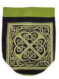 Celtic Weave Backpack Durable Cotton 16 x 18 Green