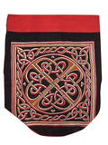 Celtic Weave Backpack Durable Cotton 16 x 18 Red