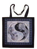Yin Yang DragonTote Bag School Shopping 18 x 18 Blue