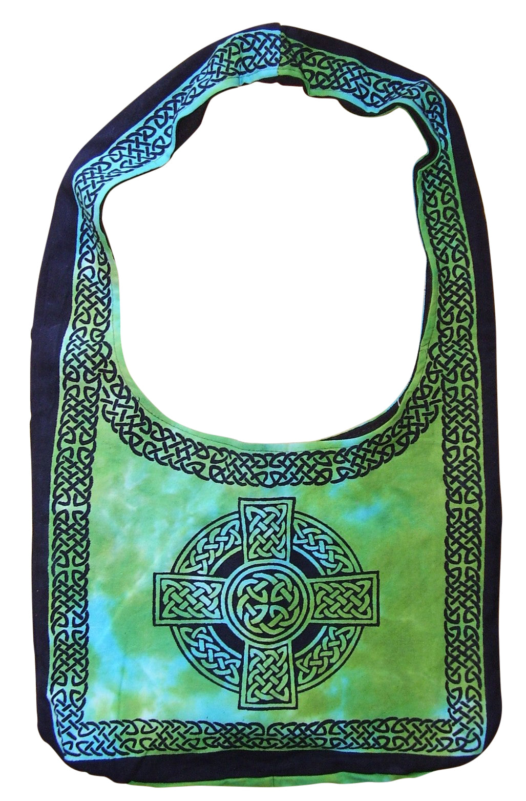Cotton Celtic Hobo Bag Flat Bottom 15 x 12 Tie Dye