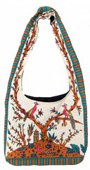 Gorgeous Tree of Life Hobo Shoulder Bag 15 x 12 Beige