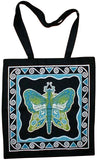 Butterfly Fairy Tote Bag School Office 16 x 17 Teal