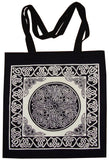 Celtic Circle Tote Bag School Office Shop 16 x 17 White