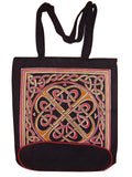 Celtic Weave Tote Bag Flat Bottom 16 x 17 Red
