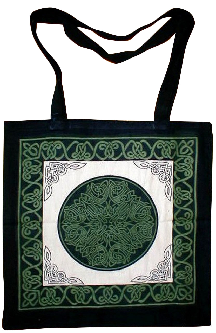 Celtic Circle Tote Bag School Office Shop 16 x 17 Ta/Gr