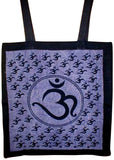 Om Tote Bag School Shop Buddhism 16 x 17 Blue