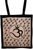 Om Tote Bag School Shop Buddhism 16 x 17 Tan