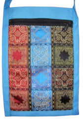 Brocade Sling Passport Bag 6 x 9 Baby Blue