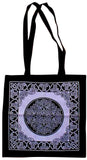 Celtic Circle Tote Bag School Office Shop 16 x 17 Purp.