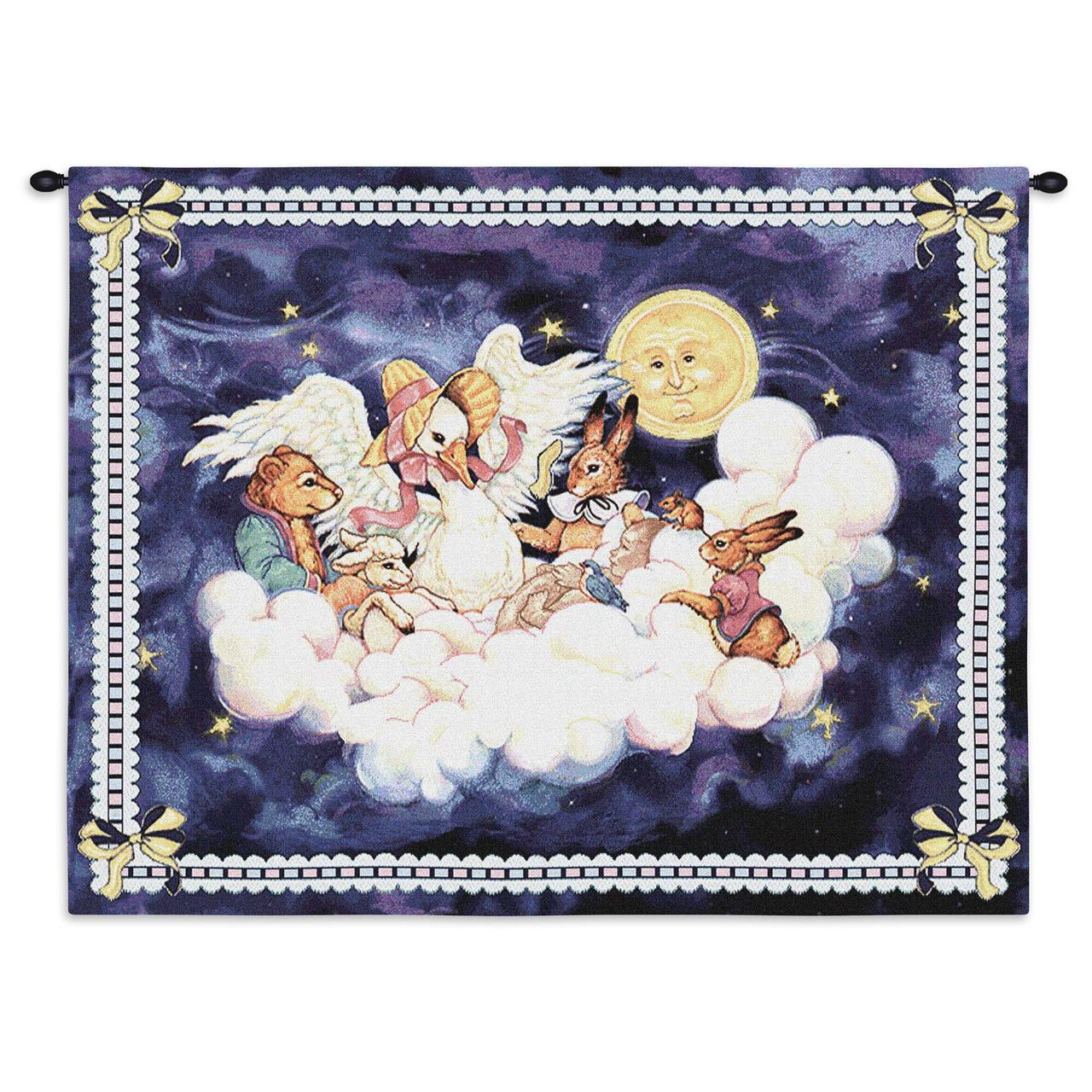 Mother Goose By Donna Race Woven Tapestry Wall Art Hanging Cotton USA Size 33x26