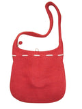 "Handcrafted Felt Shoulder Bag 13"" x 13"" Zipper Enclosure Red"