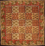 "Kalamkari Block Print Cotton Table Napkin 20"" x 20"" Multi Color"