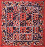 "Kalamkari Block Print Cotton Table Napkin 20"" x 20"" Red"