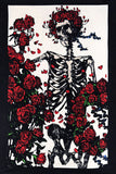 "3-D Grateful Dead Skeleton & Roses Mini Tapestry 30"" x45"" with FREE 3-D Glasses"