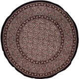 "Block Print Floral Round Cotton Tablecloth 72"" Gray"
