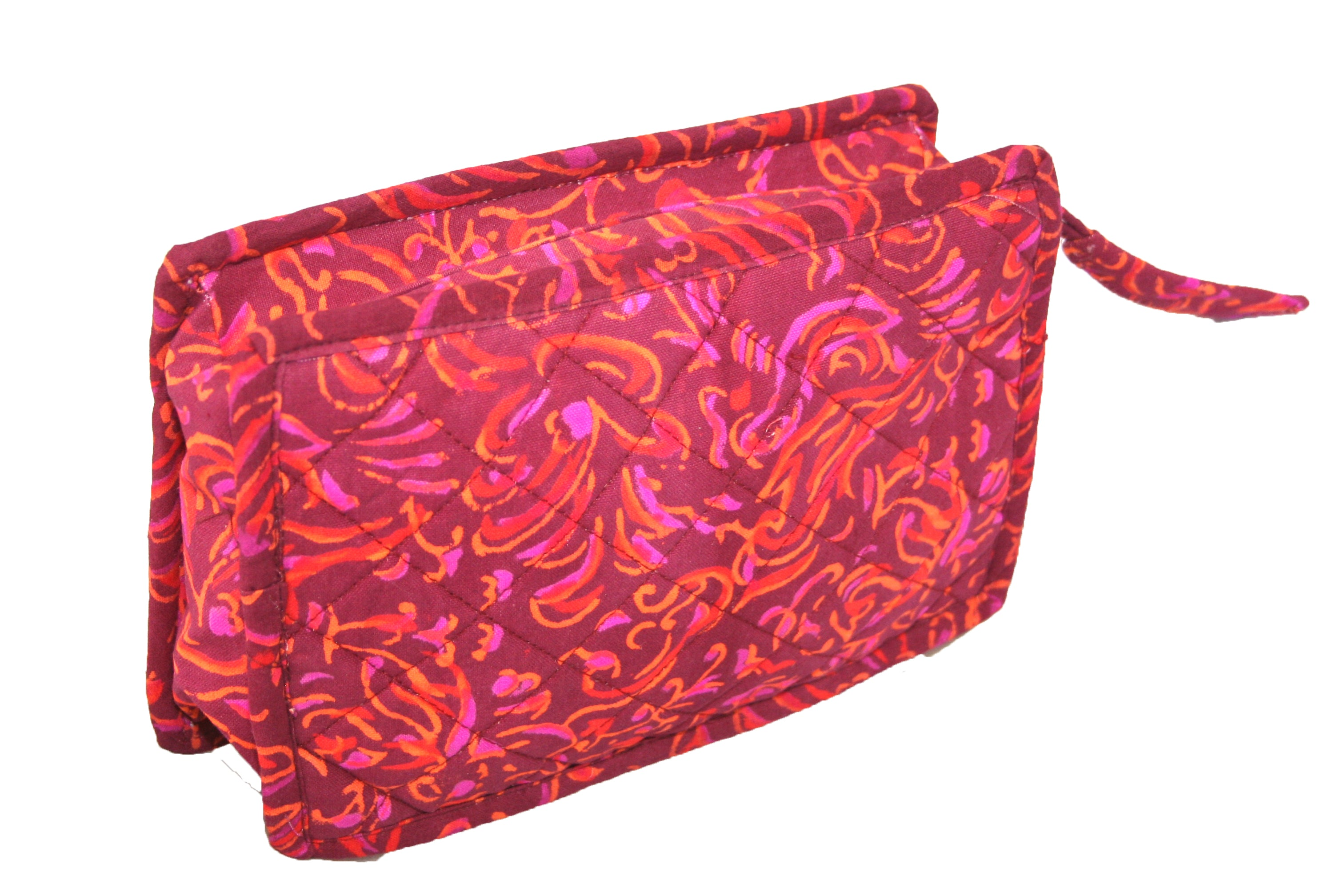 Block Printed Cotton Quilted Sanganeer Clutch Bag 9 x 7