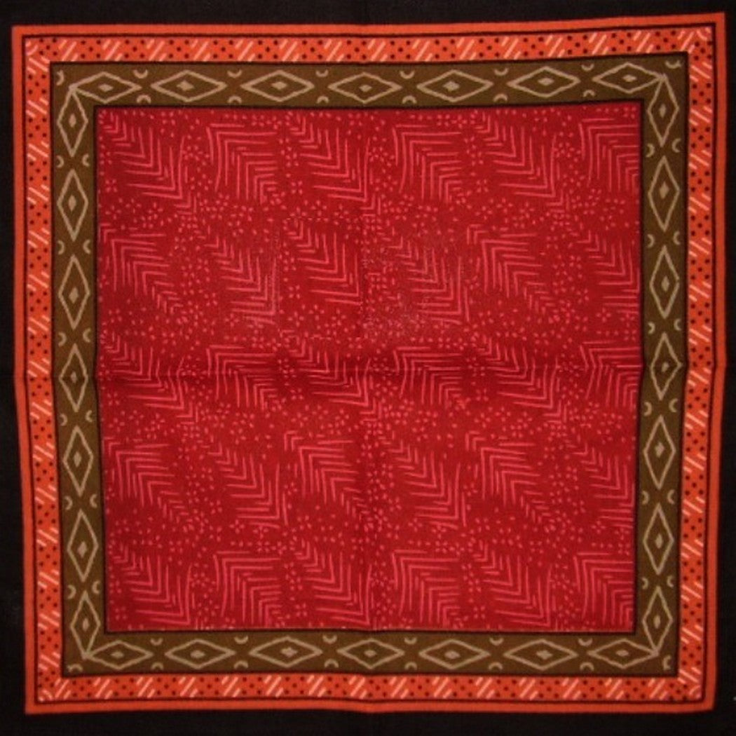 "Calico Print Cotton Table Napkin 18"" x 18"" Red"