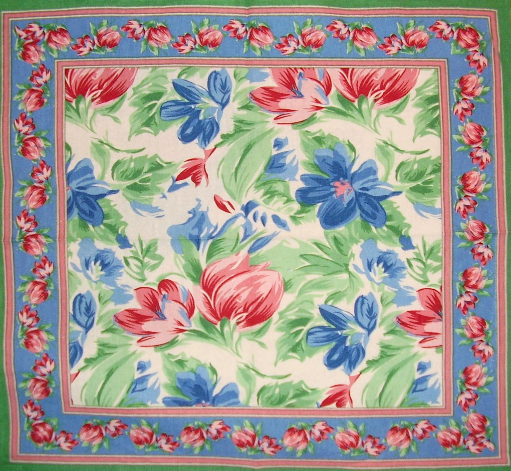 "Floral Brush Cotton Table Napkin 18"" x 18"" Multi Color"