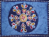 "Batik Cotton Table Placemat 19"" x 13"" Blue"