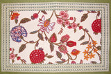 "Floral Berry Cotton Table Placemat 19"" x 13"" Multi Color"