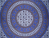 "Floral Vine Tapestry Cotton Bedspread 108"" x 88"" Full-Queen Blue"