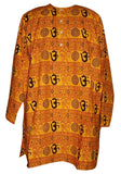 Om Cotton Kurta Shirt Casual or Dress Medium Saffron