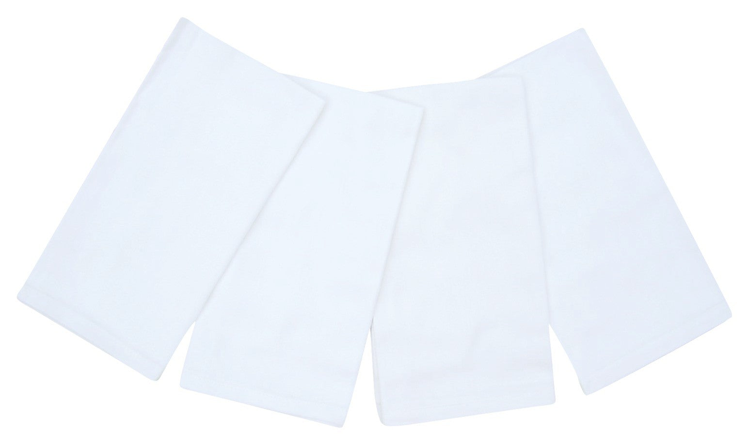 "100% Cotton Napkins 20"" x 20"" Set of 4 Bright White"