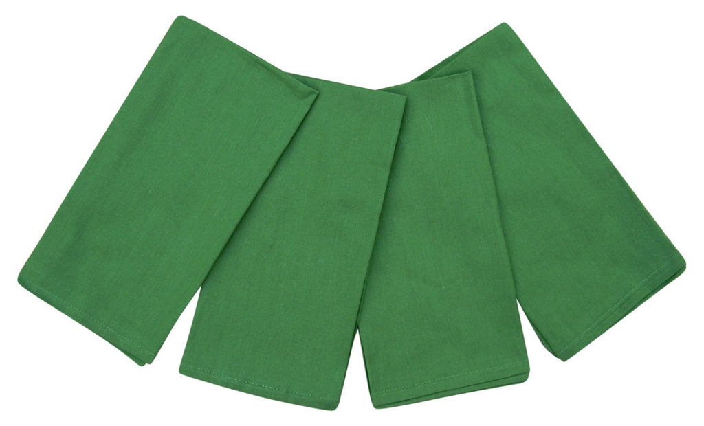 "100% Cotton Napkins 20"" x 20"" Set of 4 Green"