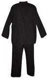 Quality Cotton Kurta Pant Suit Men & Women Black 2XL