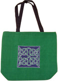 Celtic Tote Duffle Bag Durable Zip Close 13 x 15 Green