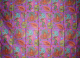 Psychedelic Paisley Scarf Wrap Shawl Cotton 72 x 42 Purple
